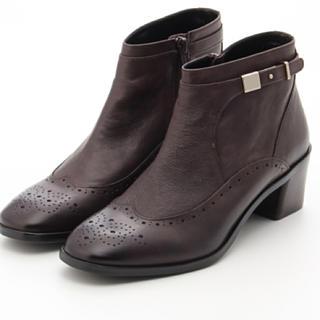 サヴァサヴァ(cavacava)の新品 定価30250円 cavacava 本革ブーツ ダークブラウン、黒(ブーツ)