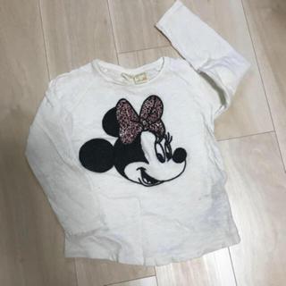 ザラキッズ(ZARA KIDS)の値下げ☆ZARA ザラ キッズ☆ディズニー ミニー  ロンT☆4Y 104サイズ(Tシャツ/カットソー)
