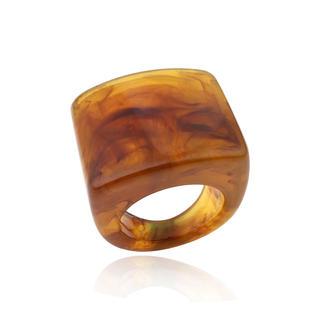 アングリッド(Ungrid)の新品 大ぶり 太め ウッド 大理石調 べっ甲 指輪 リング (リング(指輪))
