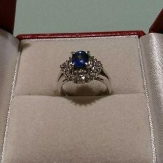 ブルーサファイア ダイヤモンド プラチナリング(リング(指輪))