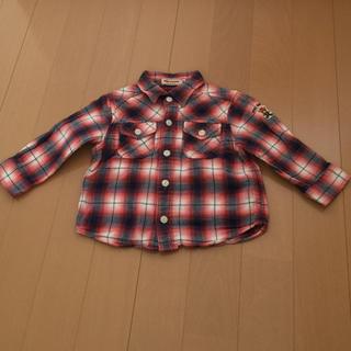 ミキハウス(mikihouse)のミキハウス80チェックシャツ(シャツ/カットソー)