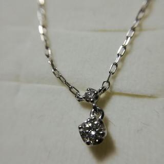 4℃ - 4℃ K18WG ダイヤモンド ネックレス