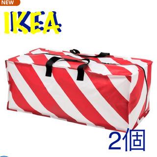 イケア(IKEA)の新品 新商品 IKEA バッグ チャック付き 2枚セット(エコバッグ)