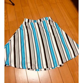 セシルマクビー(CECIL McBEE)のセシルマクビー ストライプスカート(ひざ丈ワンピース)