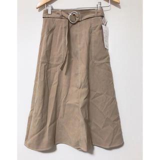 シマムラ(しまむら)の新品❤️しまむら 2PINK 起毛ツイルステッチスカート(ひざ丈スカート)