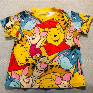 Disney - ディズニーTシャツ 100 プーさんイエロー Disney正規品