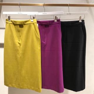 ミラオーウェン(Mila Owen)の新品未使用★タグ付き ミラオーウェン バックフラップストレートスカート 0(ひざ丈スカート)