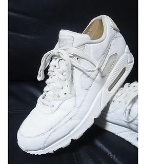 NIKE -  限定トリプルホワイト!ナイキエアマックス90レザー高級スニーカー白26