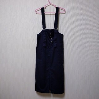 GU - GU チノフロントボタンサロペットスカート