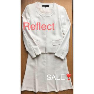 リフレクト(ReFLEcT)のリフレクト スーツ セット ジャケット11 スカート9 アイボリー (スーツ)
