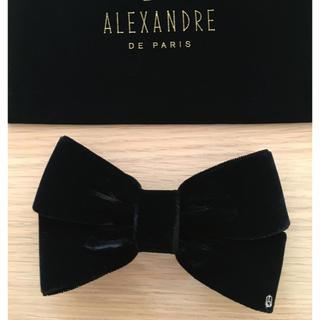 アレクサンドルドゥパリ(Alexandre de Paris)の新品未使用☆ALEXANDRE DE PARIS 定番 ベロアリボンバレッタ 黒(バレッタ/ヘアクリップ)