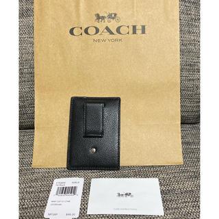 COACH - コーチ COACH  マネークリップ カードケース  黒 財布