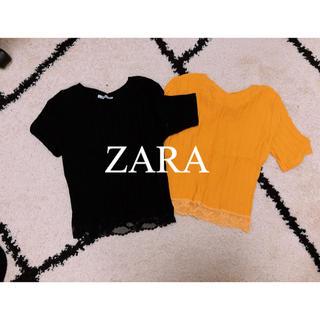 ザラ(ZARA)のZARA ベーシックトップス(Tシャツ(半袖/袖なし))