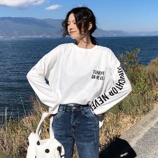 新作 新品 未使用 男女兼用 ユニセックス ストリート系 長袖 ロンT(Tシャツ(長袖/七分))