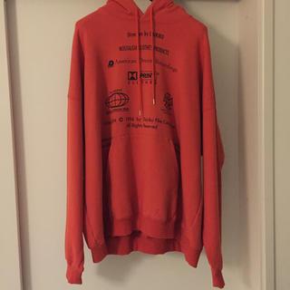 DAIRIKU endroll hoodie orange M (パーカー)