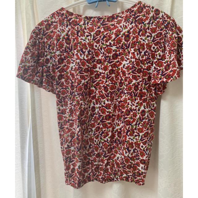 SLY(スライ)のSLY 赤 花柄 半袖 着画あり  レディースのトップス(Tシャツ(半袖/袖なし))の商品写真