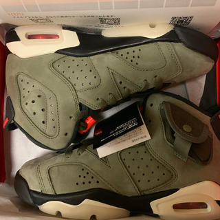 NIKE - 22.5 Air Jordan6 Retro SP Travis Scott