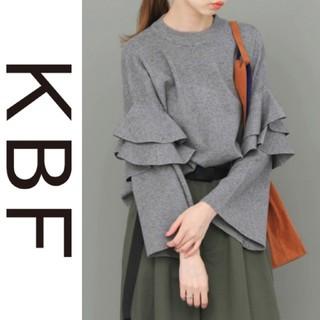 KBF - KBF*ケービーエフ*アーバンリサーチ【美品】フリルスリーブニット