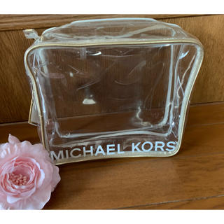 マイケルコース(Michael Kors)のマイケルコース クリアビニールポーチ L 新品未使用(ポーチ)