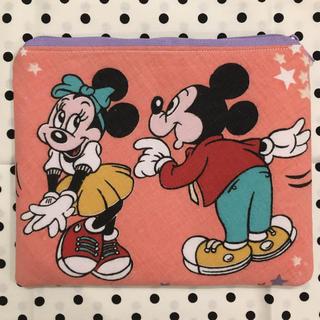 Disney - レア♡ミッキーミニー ビンテージシーツ  ポーチ
