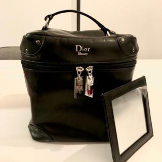 ディオール(Dior)のバニティバッグ 黒(ポーチ)