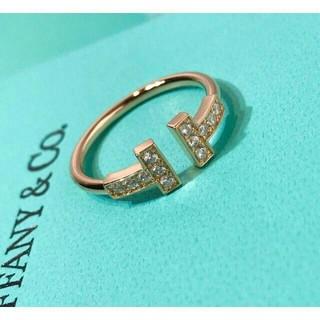ティファニー(Tiffany & Co.)のティファニー ダイヤ Tワイヤー リング 指輪 (リング(指輪))