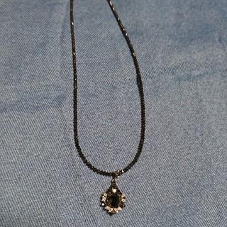 ジュエリーツツミ(JEWELRY TSUTSUMI)のK18WGブラックダイヤネックレス(ネックレス)