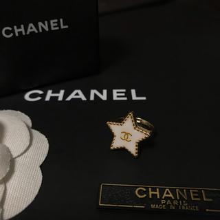 シャネル(CHANEL)のCHANEL ノベルティ スターリング(ゴールド×ホワイト)(リング(指輪))