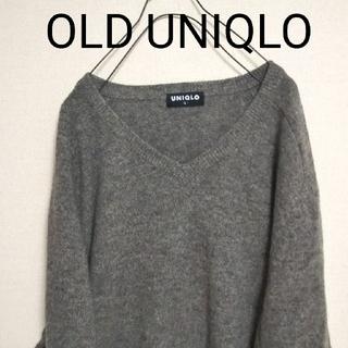 UNIQLO - 古着 OLD ユニクロ UNIQLO 旧タグ ニット セーター グレー