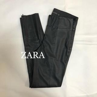ザラ(ZARA)のZARA ザラ フェイクレザー  レギンス パンツ(カジュアルパンツ)