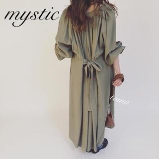 mystic - 最新作❁ミスティック ギャザーベルトガウンワンピース