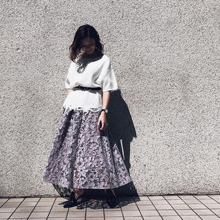Ameri VINTAGE - ANTHESIS LACE SKIRT