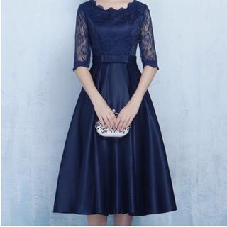 ❤️【即発送】刺繍 ドレス パーティードレス ワンピース 結婚式 二次会
