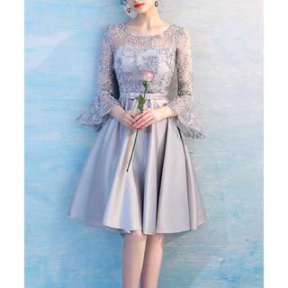 バックレースアップドレス M♡ 結婚式 二次会 パーティー お呼ばれ 食事会にも