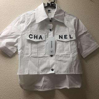 シャネル(CHANEL)のCHANEL コットントワルブラウス(シャツ/ブラウス(半袖/袖なし))