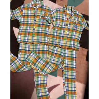双子パジャマ*110cm*2枚セット*ケアチェリ