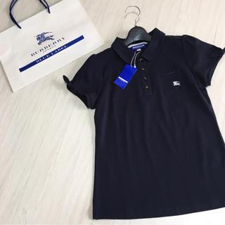 BURBERRY BLUE LABEL - 新品タグ付き☆バーバリーブルーレーベル ポロシャツ 38サイズ ネイビー