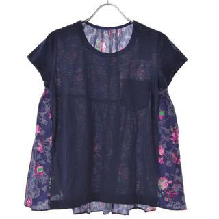 sacai - sacai  サカイ 花柄 切替半袖Tシャツ