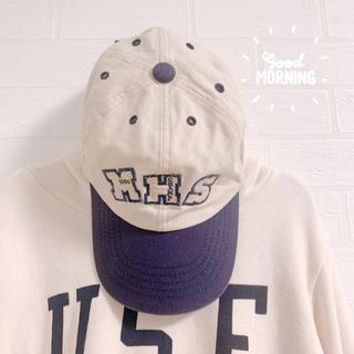 ミキハウス(mikihouse)の【ミキハウス】キッズ キャップ 古着 ヴィンテージ 56㎝ 小学生 男の子(帽子)