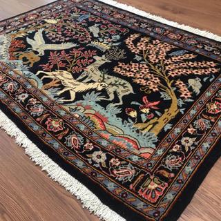 ペルシャビンテージ絨毯 玄関マットNo:34116(ユニーク品)