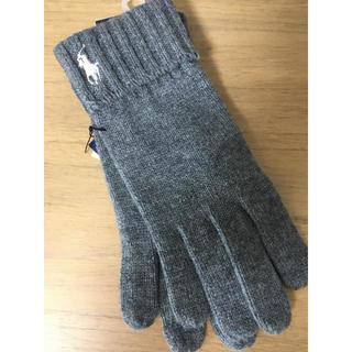 ポロラルフローレン(POLO RALPH LAUREN)のポロラルフローレン グレー 手袋(手袋)