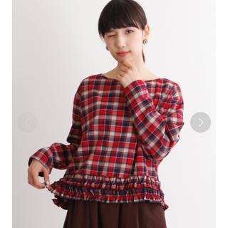 メルロー(merlot)のmerlot チェック柄フリル裾ブラウス(シャツ/ブラウス(長袖/七分))