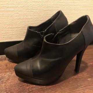 黒 ショートブーツ(ブーツ)