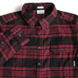 コロンビア(Columbia)のColumbia ヘビーウエイトフランネル 長袖シャツ(赤・黒色・チェック柄)(シャツ)