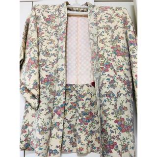 着物☆花柄羽織り