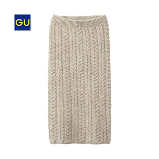 GU - ケーブルニットスカート