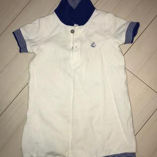 PETIT BATEAU - プチバトー ロンパース ポロシャツ 12m