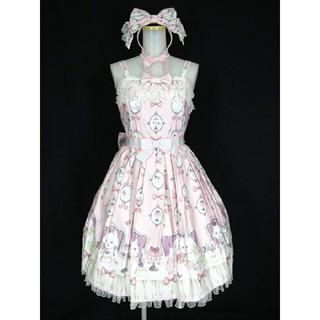 Angelic Pretty - 最終値下げ 猫のお茶会ジャンパースカートset ピンク 今井キラ