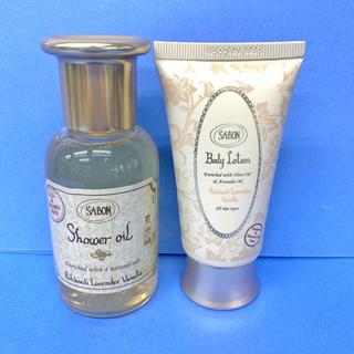 サボン(SABON)の新品 サボンSABONパチュリラベンダーバニラ シャワーオイル ボディローション(ボディローション/ミルク)