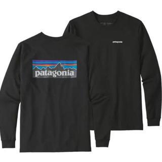 パタゴニア(patagonia)のパタゴニア ロングスリーブ・P-6ロゴ・レスポンシビリティー ロンT 黒 L新品(Tシャツ/カットソー(七分/長袖))